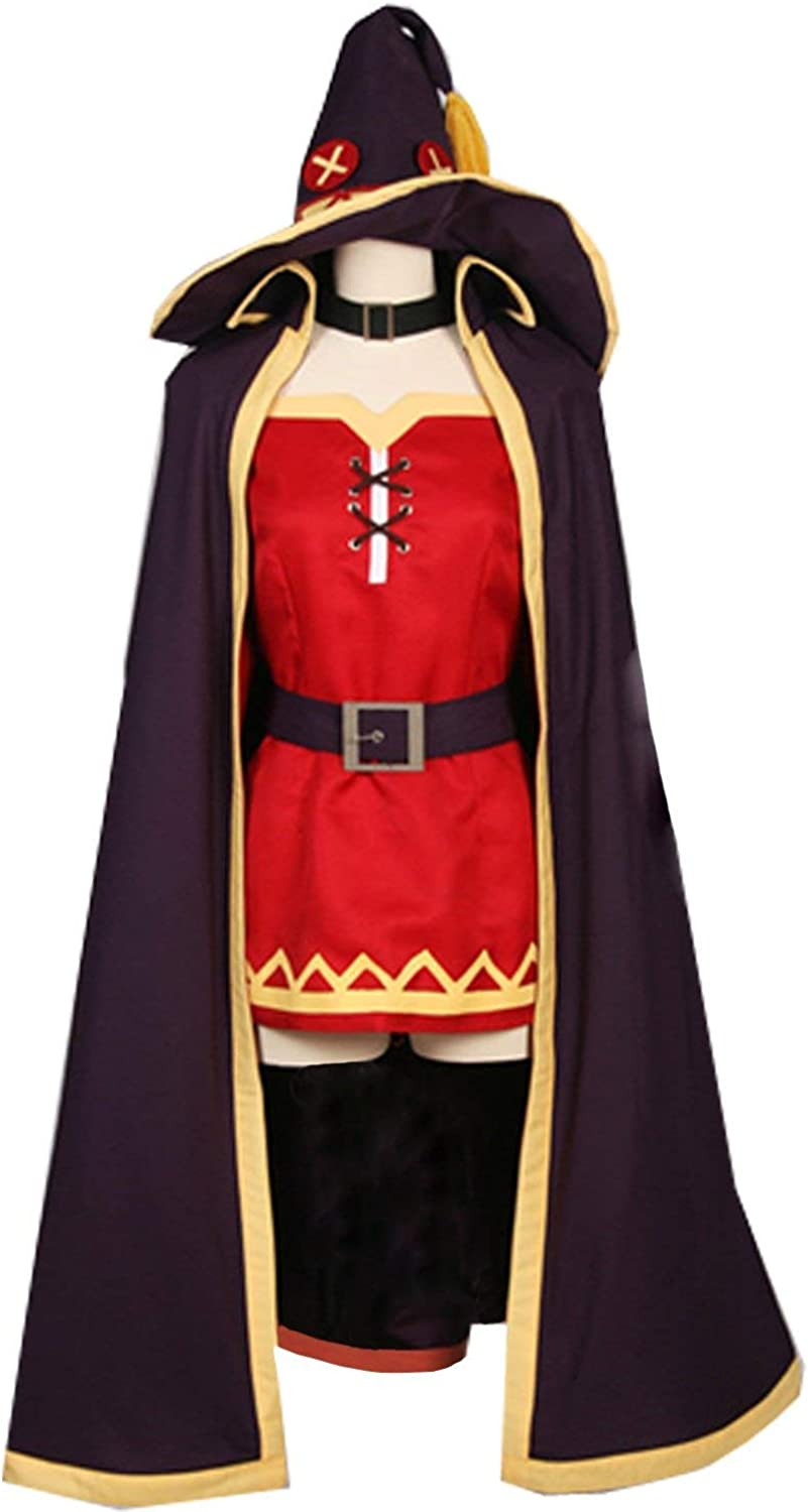 KonoSuba Mesa Mall Megumin Arch Wizard Witch Large special price !! Halloween Cosplay Costume Red