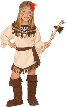 Net Toys Déguisement Indienne Squaw Costume Pour Enfant Pocahontas Costume De Fille Indian Girl Robe Lady Grand Chef Déguisement De Carnaval Western 110 Cm 4 Ans Amazon Fr Jeux Et Jouets