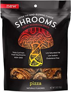 Shrooms Vegan Mushroom Crisps | Superfood Snack Made with Fresh Mushrooms | Non-GMO, Dairy, Gluten, Soy, and Trans Fat Free | Pizza