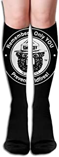 Women's Smokey Bear Remember Only You Prevent Wildfires Stockings Over Knee Long Socks
