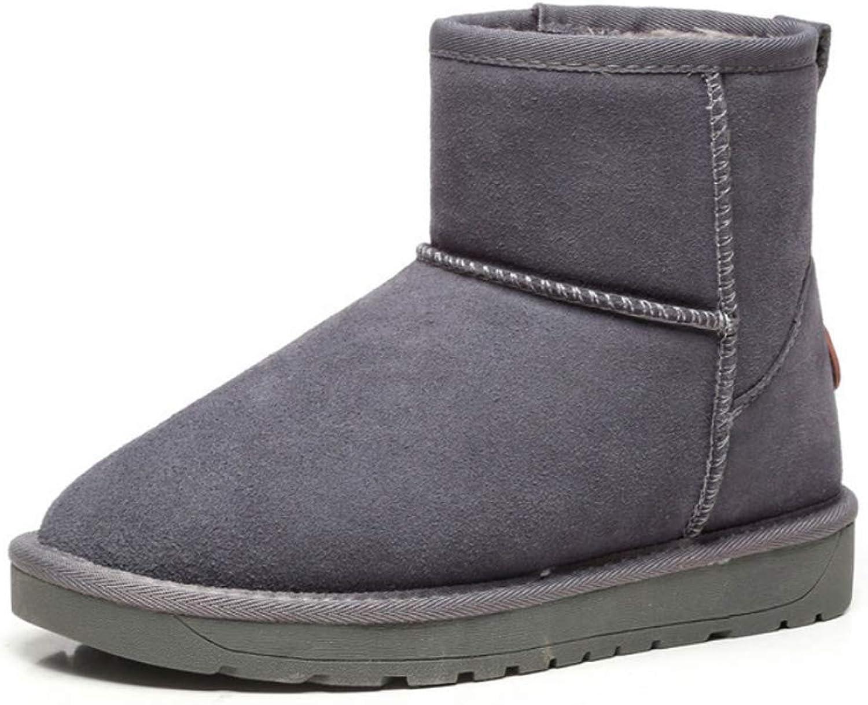 Women Winter Snow Boots Classic Warm Mid-Calf Boot Hidden Heel Non-Slip shoes for Lady Girls