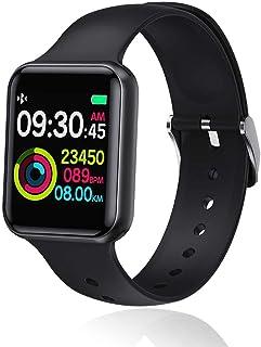 naack Pulsera Actividad, smartwatch, Reloj Inteligente Impermeable IP68 Pulsómetro Monitor de sueño Pulsera Deportiva Cronómetro Contador de calorias Full Touch Screen Compatible iOS y Android