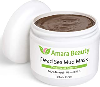 Dead Sea Mud Mask for Face & Body - Pure Mud with No Fillers Detoxifies & Restores Healthy Skin - 8 oz.