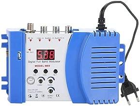 ASHATA Modulador RF, Convertidor/Adaptador AV a Señales de Salida de RF para Receptores de Satélite,Cámaras de Video CCD,Consolas de Videojuegos,VCR,DVD,etc.Apoyo VHF/UHF/Sistemas CATV(Plug UE.)