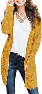 Womens Casual Open Front Kimono Cardigan Sweater Long Sleeve Loose Knit Coats
