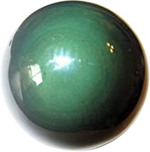SatinCrystals Obsidian Rainbow Ball Premium Green Eyed Spirit Guide Guardian Volcanic Sphere P02 (2.5 Inches)