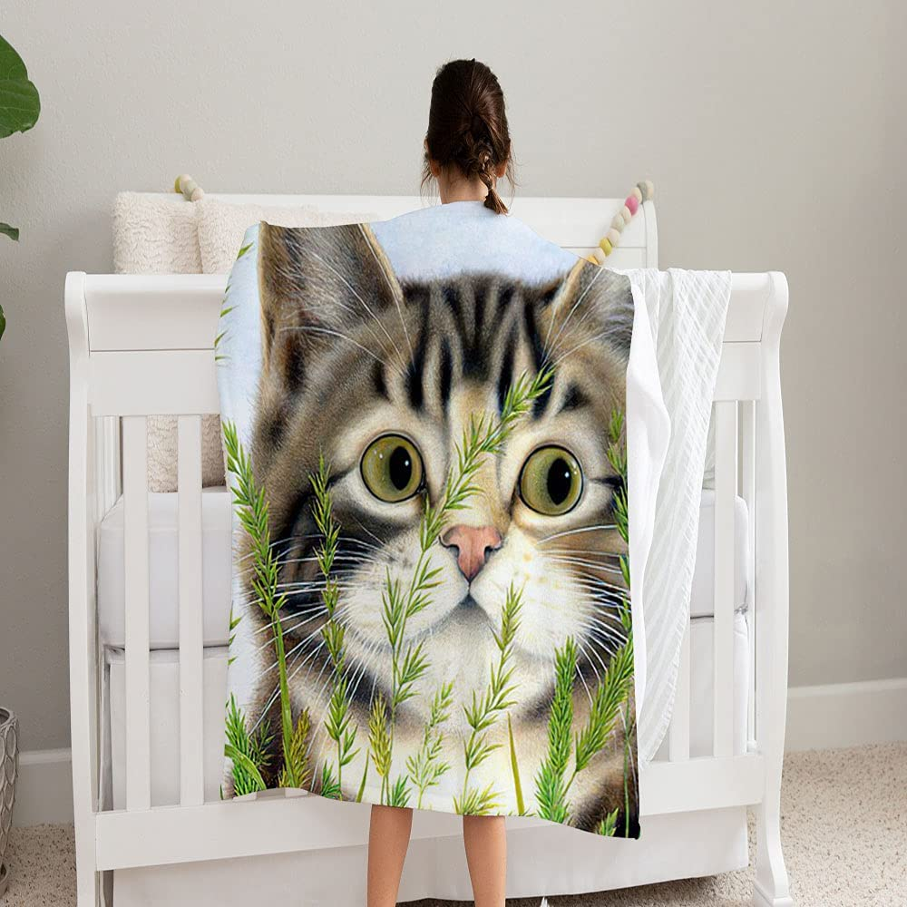 GANTEE All You Need is Sale special price A Cat Soft Blanket Cozy Omaha Mall Super Fleece and