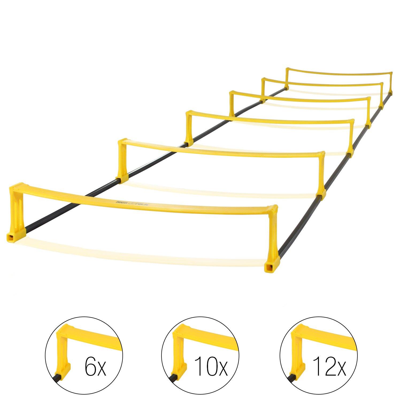 High Pulse escalera de coordinacion – escalera con vallas para un entrenamiento profesional de coordinacion y agilidad (6 obstáculos|2,2 m): Amazon.es: Deportes y aire libre