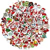 クリスマス 飾り ステッカー 面白い 子供 剥がせる シール プレゼント (100枚)