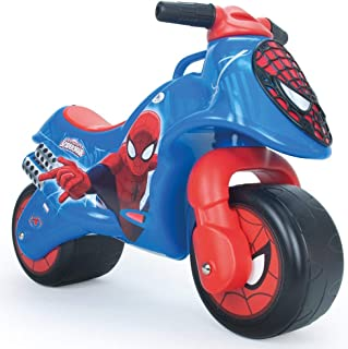 INJUSA - Neox Spiderman balanscykel rekommenderas för barn 18 månader med permanent och vattentät dekoration och bärhandtag