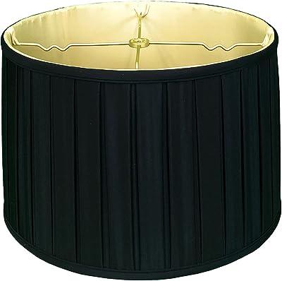 Royal Designs Shallow tambour anglais BO X pli Basic Abat-jour Traditionnelle 15 x 16 x 10 noir