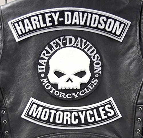 Patches patches applicatieset patches Skull doodskop Willie G.Grande Harley Davidson Gilet vest patches grote XL schouders cadeau-idee embleem sportster Dyna Softail biker Club Electra Glide logo merk