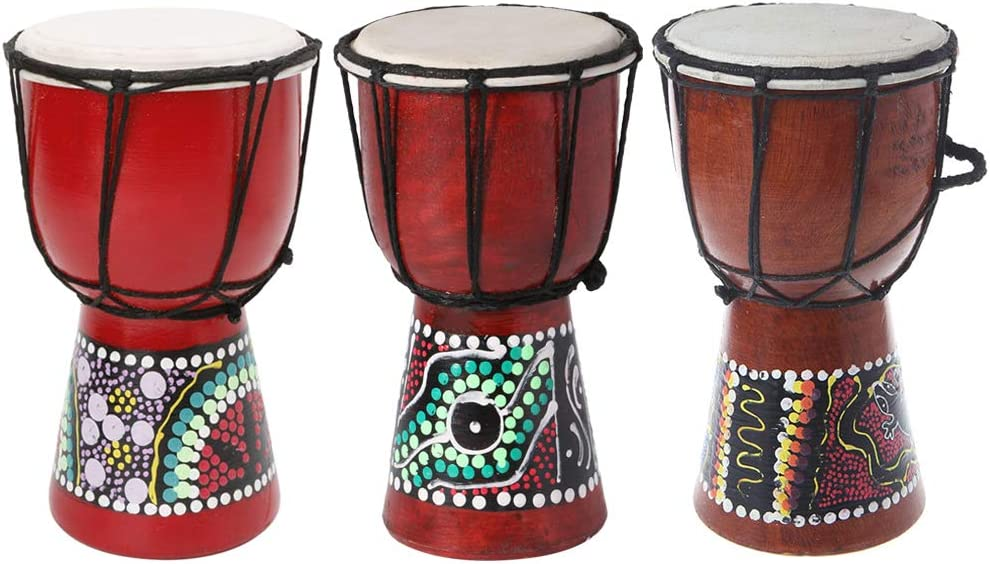 Max 67% OFF HELYZQ 4 inch Professional African Djembe Los Angeles Mall Wood S Drum Good Bongo