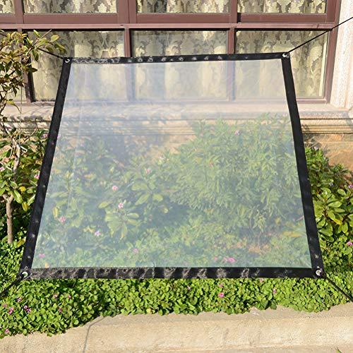 Leikance Transparentes Regenverdeck, Pflanzenüberdachung, winddichte Abdeckplane, Frostschutz-Überdachung (Geschenkseil)