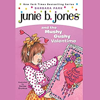 Junie B. Jones and the Mushy Gushy Valentine audiobook cover art