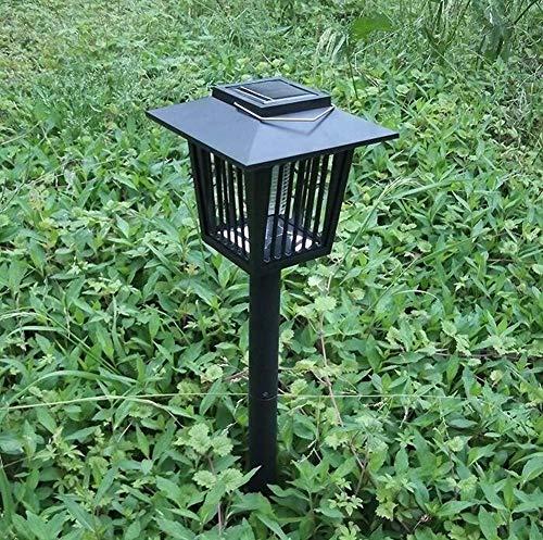 JKL geleide muggenlamp op zonne-energie buiten, gazon verlicht, tuinlamp voor patio-yard portch kamperen