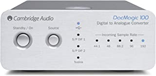 Cambridge Audio DacMagic 100 S/PDIF Digital to Analog Converter DAC with Toslink Input, TV Compatible, 192kHz (Silver)
