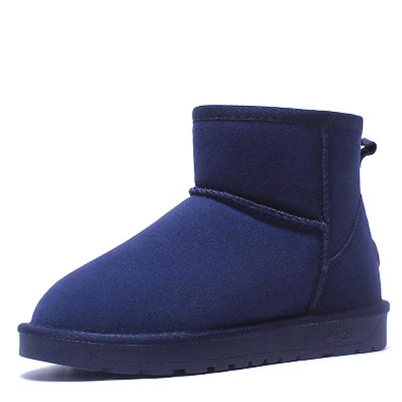 漏斗人工良さブーツ ショートブーツ レディース 革 ウォーキングシューズ 革靴 レザー カジュアル 軽量 (22.5, グレー)