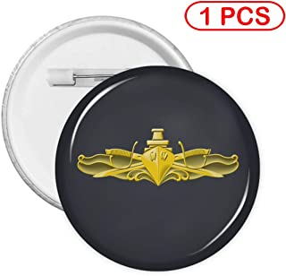 US Navy Surface Warfare Officer Logo Button Badge, Pin Badges Kit for Crafts Activities Personal Decoration S