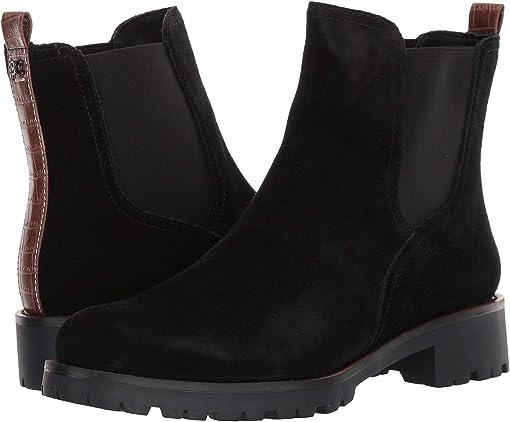 Black Waterproof Velour Suede Leather