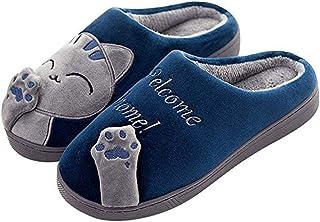 5981d4235f6b JIANKE Pantofole da Casa per Donna Uomo Antiscivolo Ciabatte Inverno  Peluche Coniglio Scarpe da Interno
