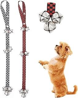 Lidiper 2 Piezas Campana para Puerta de Perro, Campanas de Adiestramiento de Perros Ajustables Timbre para Puerta de Entre...