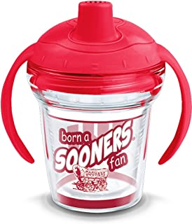 Tervis 1292429 NCAA Oklahoma Sooners Born a Fan Sippy Cup with Lid, 6 oz, Clear