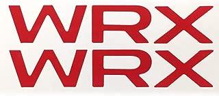 WRX Vinyl Badge Inlays Red Vinyl Emblem Overlays for Subaru 2015-2019 4th gen