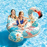 Tropical Flamingo Inflatable Float Ride ON for Adults & Kids (Size: 56' x 54' x 38')