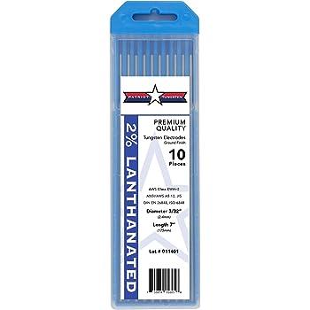 Blue, EWLa-2 RXWELDER TIG Welding Tungsten Electrode 2/% Lanthanated 5pk 1//16 /& 5pk 3//32 by 7 Assorted-size
