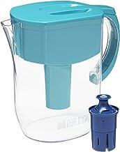پارچه آب بریتانی Brita Pitchers با 1 فیلتر Longlast ، BPA رایگان روزمره ، 10 جام بزرگ ، فیروزه ای