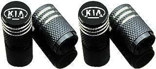 EVPRO Valve Stem Caps for Car Tire Decorative 4 Pack Black Fit KIA Accessories