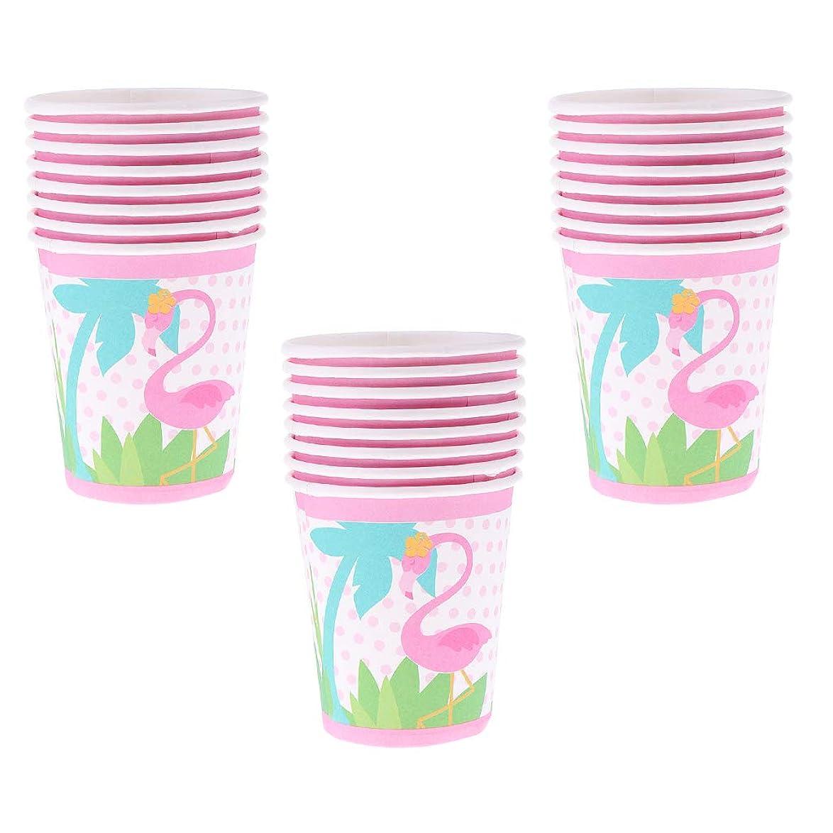層以前は必要とするD DOLITY 約24個 紙コップ 使い捨て食器 ペーパーカップ 可愛い フラミンゴ ピンク 子供パーティー