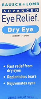 Bausch & Lomb Advanced Eye Relief Dry Eye Lubricant Eye Drops 1oz ( Packs of 3)