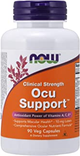 NOW Supplements, Ocu Supportwith FloraGLO Lutein, plus Vitamins A, C and E, 90 Capsules