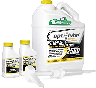 Opti-Lube Summer+ Cetane Formula Diesel Fuel Additive: 1 Gallon with Accessories (HDPE Plastic Hand Pump and 2 Empty 4oz Bottles) Treats up to 2,560 Gallons