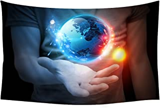 Styles hand arts continents ball male planet mike sun - Wall Tapestry Art For Home Decor Wall Hanging Tapestry 90x60 Inches