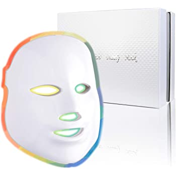 Photon Skin Rejuvenation Face & Neck Mask   LED Photon Red Blue Green Therapy 7 Color Light Treatment Anti Aging Spot Removal Wrinkles Whitening Facial Skin Care Mask