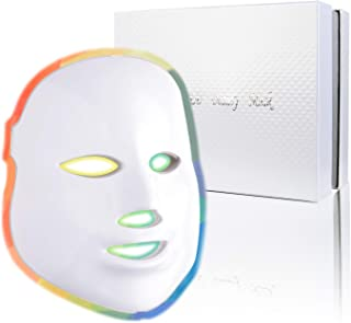 Photon Skin Rejuvenation Face & Neck Mask | LED Photon Red Blue Green Therapy 7 Color Light Treatment Anti Aging Spot Remo...