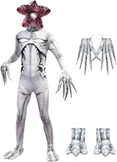 Lito Angels Kids Costumes Halloween Zentai Bodysuit Jumpsuit Dress Up Horror Cannibal Flower Cosplay Party Full Set