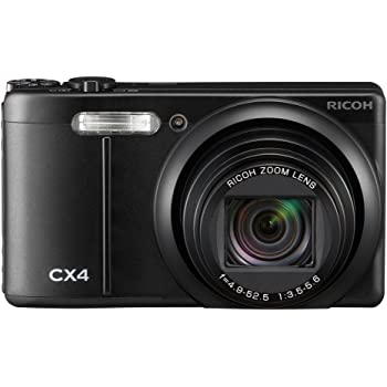 RICOH デジタルカメラ CX4 ブラック CX4BK 1000万画素裏面照射CMOS 光学10.7倍ズーム 広角28mm 3.0型液晶 高速連写