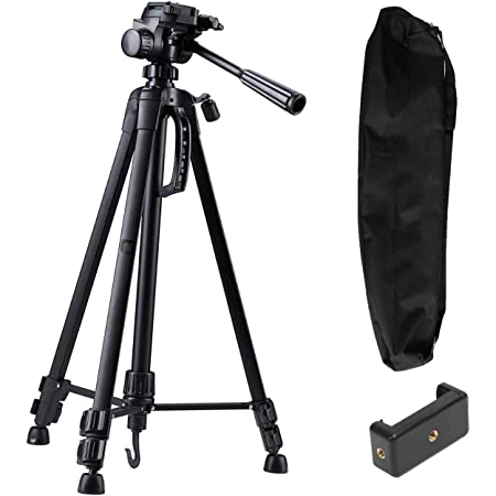 Syvo WT- 3520 (55-Inch) Aluminium Tripod, Universal Lightweight Tripod with Carry Bag for All Smart Phones, Gopro, Cameras (Black)