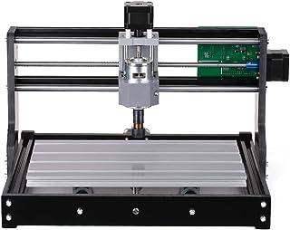 Fesjoy Router Kit 2-en-1 Mini Máquina de Grabado láser Control 3 Ejes para PCB PVC Plástico Acrílico Talla de Madera Máquina de Grabado de Fresado con Boquillay Gafas Protectoras