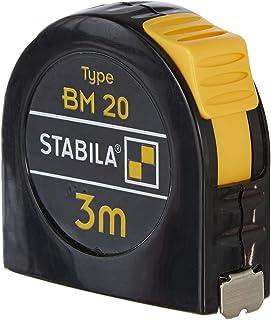 Stabila MPBM20 BM 20 Mètre-ruban de poche, Noir/jaune, 3 m