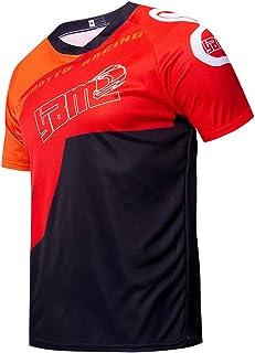YIBIMOTTO Men's Cycling Jersey Short Sleeve Mountain Bike Shirt MTB Bike Shorts Breath Quick Dry