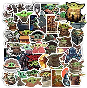 50-Piece Baby Yoda Merchandise Stickers