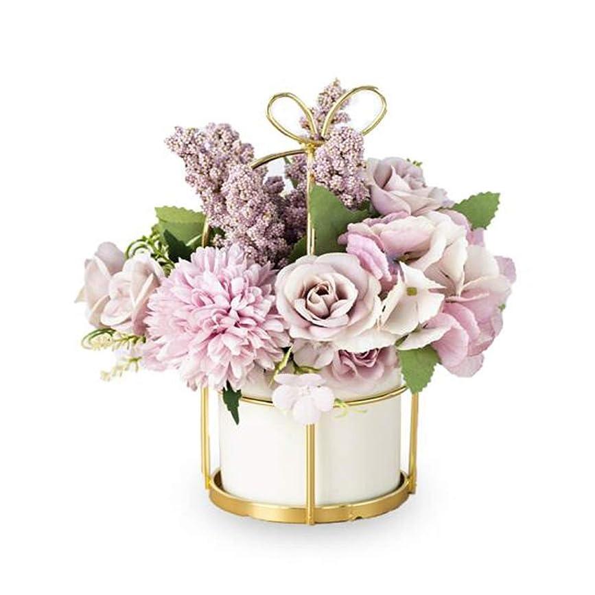 部屋を掃除する姿を消す印象的HAYQ 花瓶、リビングルームの装飾、シミュレーションセラミック花瓶 (Color : White)