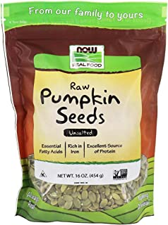 Now Foods Real Food Raw Pumpkin Seeds Unsalted - 454 g