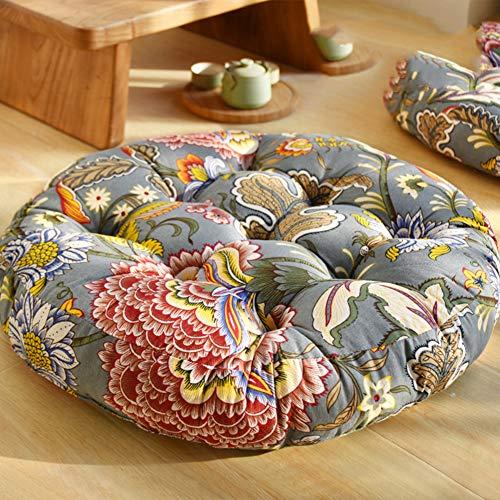 Z IMEI - Cojín para asiento de futón japonés, algodón y lino, para salón, balcón, decoración del hogar