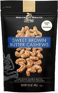 SQUIRREL BRAND Artisan Nuts, Sweet Brown Butter Cashews, 3.5 oz